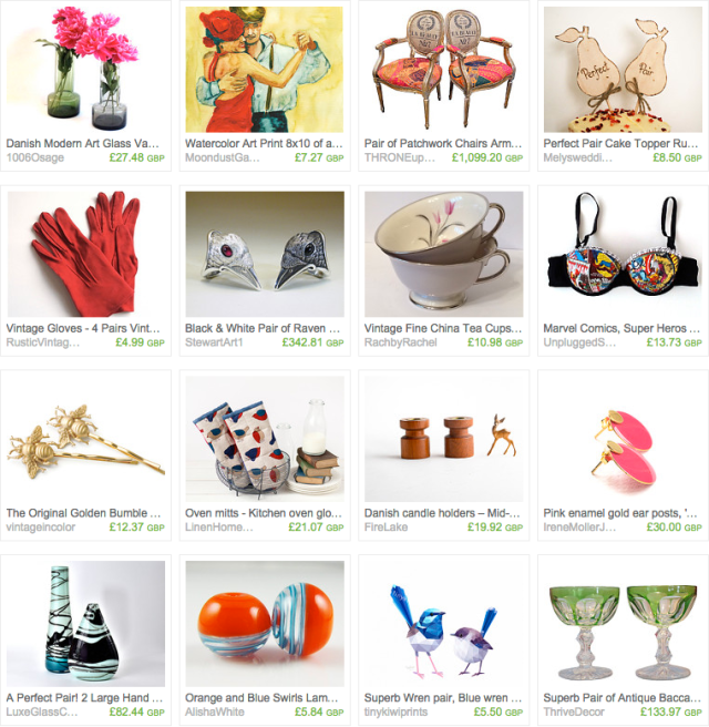 The Perfect Pair treasury on Etsy